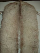 "NATURAL BLUE FOX FUR TRIM PIECE  BIFANO'S FURS  78"" IN LENGTH  5"" IN WIDTH"