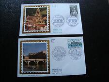 FRANCE - 2 enveloppes 1er jour 1978 (le pont neuf/eglise st-saturnin) (cy45)