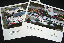 PORSCHE 993 911 GT1 LE MANS FRIENDS & SURVIVING RACECAR SHOWROOM POSTER SET 1998