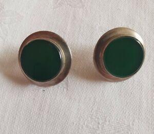 Sterling Silver Lovely Jade Earrings