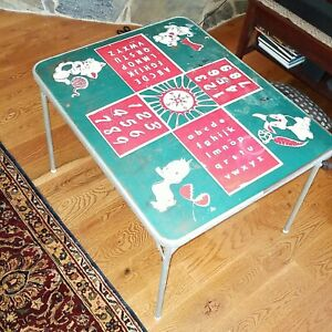 "MID CENTURY RETRO CHILD TABLE  30""×24"" Home School"