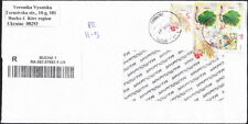 Ukraine - Modern Registered Cover to the US -  Franked with 5 Definitive Stamps