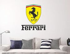 Ferrari Logo Wall Decal Sticker Cars Brand Decor Vinyl Letters