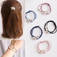 5Pcs Women Girls Hair Band Ties Rope Ring Elastic Hairband Ponytail Holder bw
