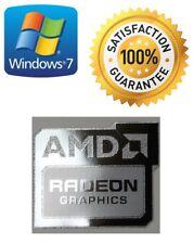 AMD RADEON GRAPHICS FREE WINDOWS PC 7 computer sticker 10 Genuine 8 XP Vista UK