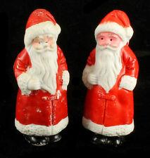 "Antique Japanese Porcelain Santa Figural Christmas Figurines Pair Japan 3"""