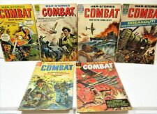 LOT OF 6 DELL WAR STORIES - COMBAT, 1960'S