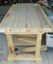 "Heavy duty 3.5"" top timber workbench. Traditional joinery, photo is display only"