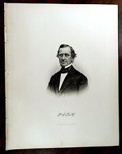 WILLIAM GELSTON BATES 1803-1880 Engraving Print 1879 MEMBER MASSACHUSETTS HOUSE