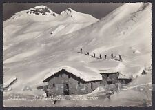 BERGAMO SCHILPARIO 28 CAMPELLI - SCALVE - NEVE SCI Cartolina FOTOGRAF. (1952 ?)