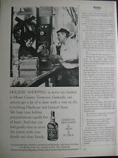 "Jack Daniel's Ad 8.5 x 10.5""-1/2 page Ad-Lynchburg General Store"