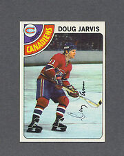 Doug Jarvis signed Canadiens 1978-79 Topps hockey card