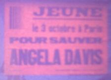 VINTAGE 1971 PARIS FRANCE ANGELA DAVIS BLACK PANTHER PARTY POSTER SLIDE PHOTO