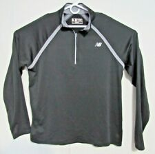 NEW BALANCE NB Dry Quarter 1/4 ZIP Black Shirt Dri Fit FLEECE Size XL
