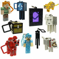 Series 2 Minecraft 3D Keyring Keychain Belt Bag Hangers Mine Craft toy Figures