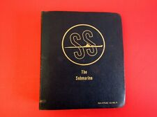 Ss The Submarine Book dated 1958 (Navpers 16160-A)