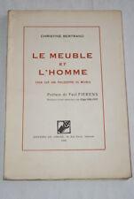 LE MEUBLE ET L'HOMME ESSAI PHILOSOPHIE 1946 GRAVURES
