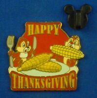 Chip and Dale Happy Thanksgiving 2008 Free-D Corn LE 1500 Disney Pin # 65997