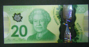 Canada $20 GEM UNC new polymer paper money Bank Notes bill