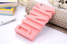 Victoria/'s Secret 3D PINK Letter Soft Silicone Case for iPhone 7 6 6S Plus 5 SE