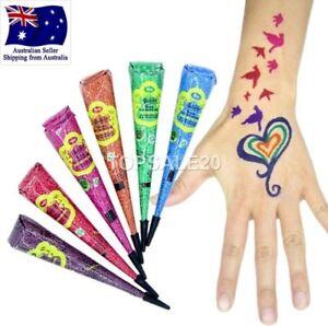 Multi Color Henna paste cones tattoo kit body art temporary mehandi