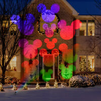 Disney Mickey Mouse Magic Holiday Outdoor Stake Light Projector LED Multi-Color