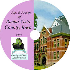 1909 BUENA VISTA County Iowa IA, - History & Genealogy -  Storm Lake CD DVD