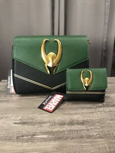 Loungefly Marvel LOKI Crossbody Bag Purse & Wallet BRAND NEW With TAGS IN HAND!