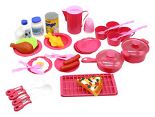 40PCS Pretend Play Food Playset Plastic Toy Set Kids Toddler Cooking Kitchen New