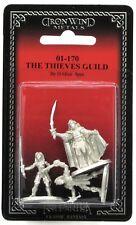 Ral Partha 01-170 Thieves Guild (Roxor & Two Associates) Rogue Hero Female Thief