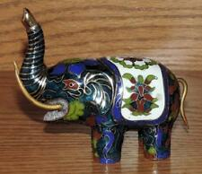 "VINTAGE PG HANDCRAFTED MALAYSIA 4""L PORCELAIN BEAUTIFUL ASIAN ELEPHANT FIGURINE"