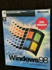 """Windows 98 New Version,English.CD With Product Key+Boot Disk(floppy 3,5"""")NEW BOX"""