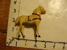 vintage toy--horse, composition & wood leg, unmarked w/ light wear