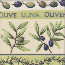 Dekobild Oliven Olivenzweige mediterran Shabby Geschenkidee Mitbringsel