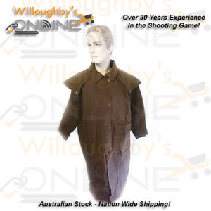 Outback Survival Gear full length stockman oilskin jacket clothing outdoor