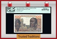 TT PK 101Ad 1964 WEST AFRICAN STATES IVORY COAST 100 FRANCS PCGS 65 PPQ GEM
