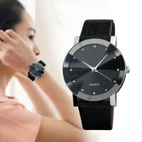 Men Luxury Stainless Steel Quartz Military Sport Leather Band Dial Wrist Watch A