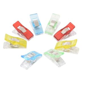 50x Wonder Clips For Fabric Craft Quilting Knitting Crochet a Sewing a L0Z1