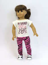 Zebra 2 PC Pants Set For 18 Inch American Girl Doll Clothes