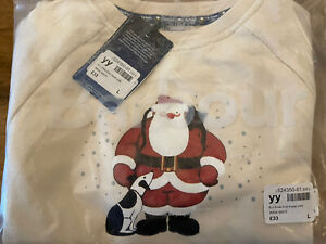 Barbour Father Christmas Raymond Briggs JNR sweatshirt Size L
