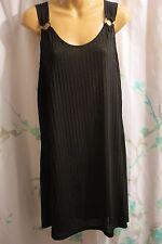 NWT Portocruz 2X Women's Black Beach Swimsuit Cover-up Sleeveless Sun Dress
