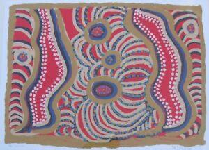 "MAYLENE RUSSELL MUNYI AUSTRALIAN LARGE SCREEN PRINT ""KUNTJANU"" 2002 A"