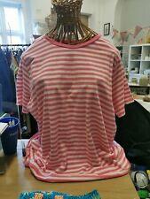 M&S Ladies Stripy T Shirt Size 22