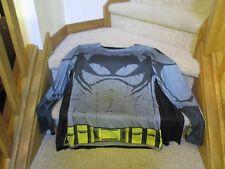 Batman Costume Men's Shirt W/ Removable Cape DC Comics Dark Knight Grey Standard