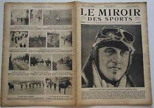 Le Miroir des Sports n°82- 1922 - Boxe Course Football Rugby Lutte Ski