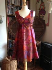 Original Vintage 60s 70s Janice Wainwright Simon Massey Psychedelic Party Dress