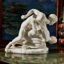 Two Greek Wrestlers Bonded Marble Handmade Statue