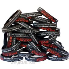 100 Armor of God Wristbands - Ephesians 6:11 Bracelets - Religious Jewelry