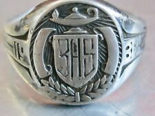 ANTIQUE / VINTAGE 1935 STERLING SILVER MENS MANS BOYS CLASS RING BHS HIGH SCHOOL