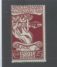 Italy #140 Unused, Vf Issue Hinge Remnants/ Tampering Sword ofd Justice - S8142